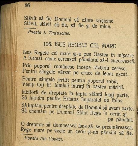 Carte de cântări 1940
