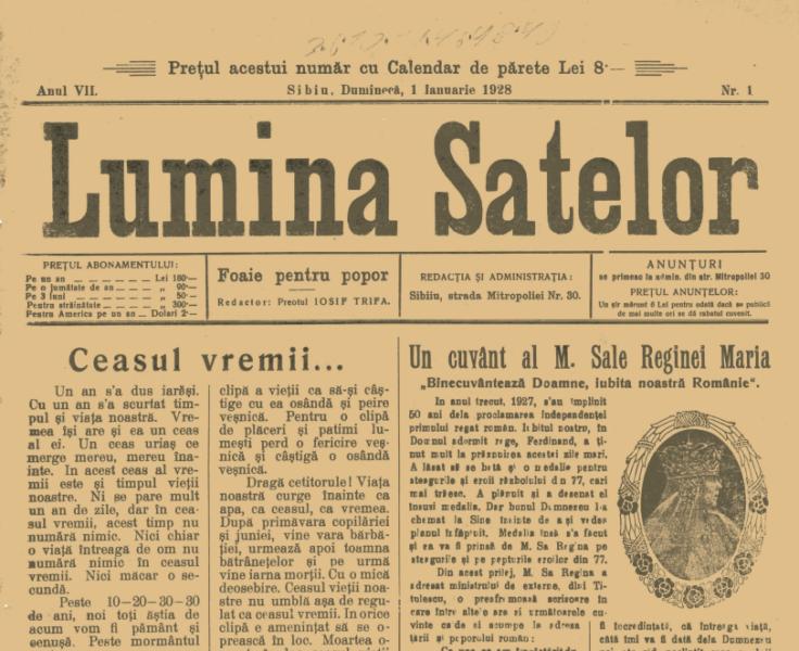 Lumina Satelor – I – 1928