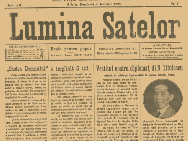 Lumina Satelor – II – 1928