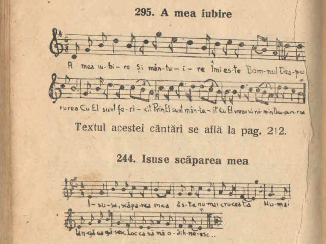 Carte de Cântări – 1934