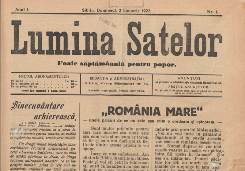 Lumina Satelor – I – 1922